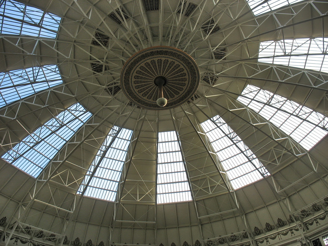 Looking up at the dome.
