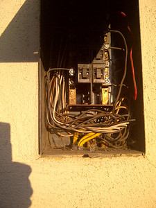 Another view of the electrical panel.