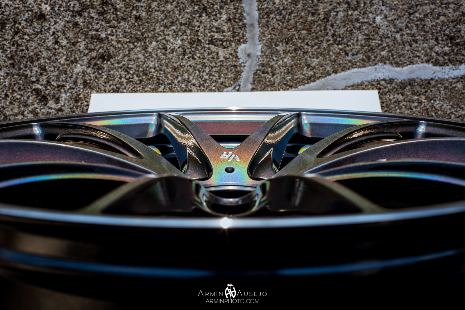 Volk Racing G25 in Dark Prism concave close-up