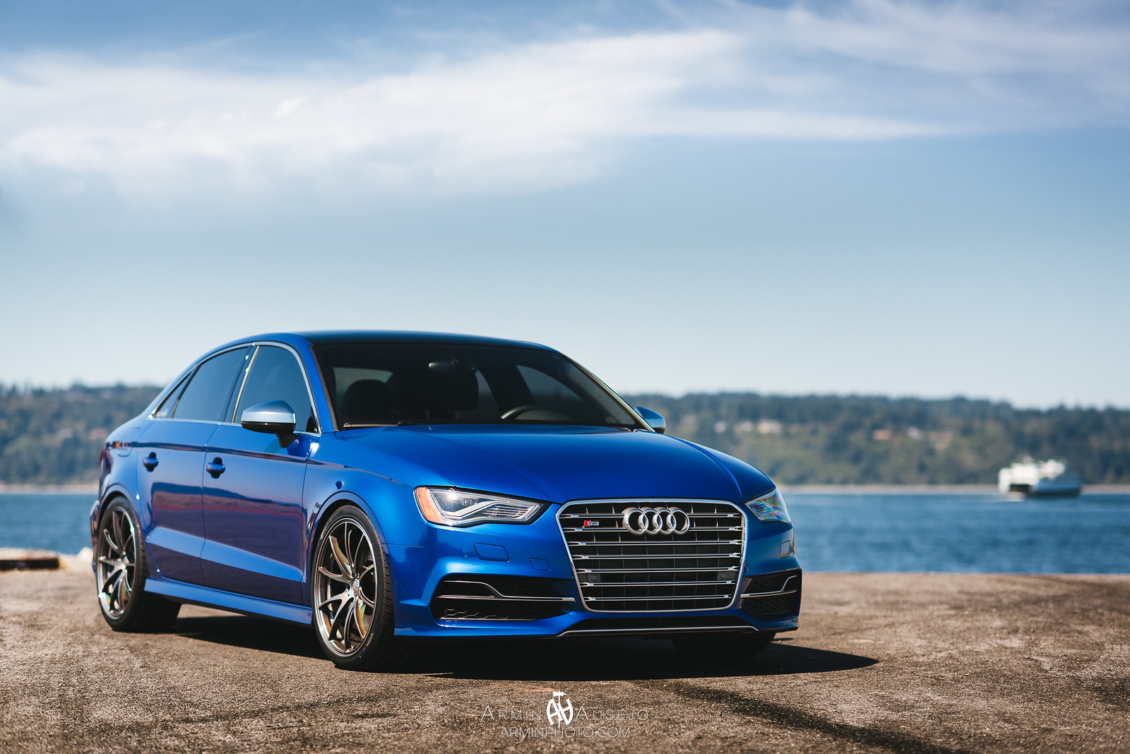 Audi S3 on Volk Racing G25 Dark Prism