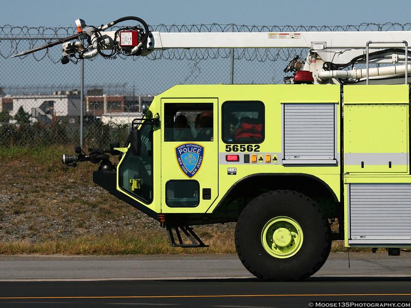 Port Authority Police Crash Truck at LaGuardia Airport