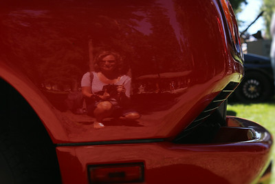 I got artsy and took a photo of my reflection in the Lamborghini