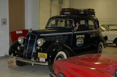 A Plymouth taxi.