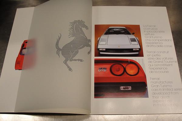 Ferrari 308 sales brochures
