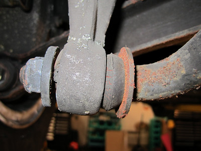 Worn anti-sway bushing.