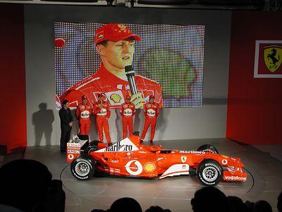 Ferrari F1 Launch 2003