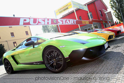 You can rent a Ferrari or Lamborghini for 10 minutes for 60 euros (about $90).