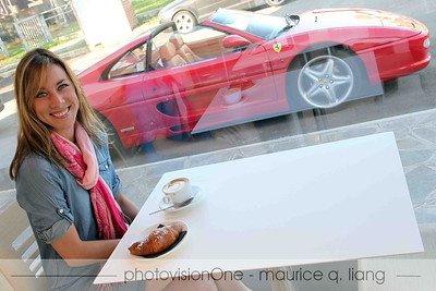 Coffee, croissant, and Ferrari.  What a breakfast!