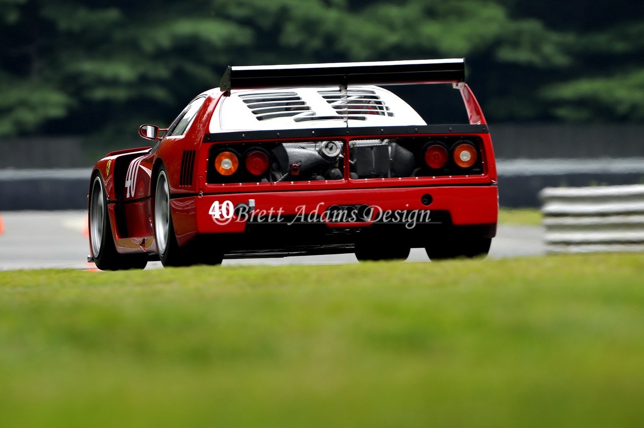 F40 LM Lime Rock Park - Heading to West Bend
