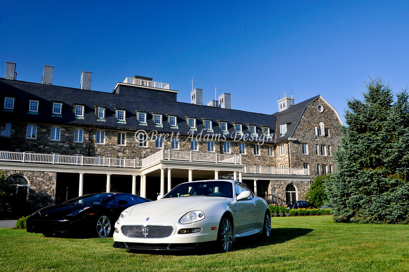 Lamborghini Gallardo and Maserati Coupe at Sky Top Inn_