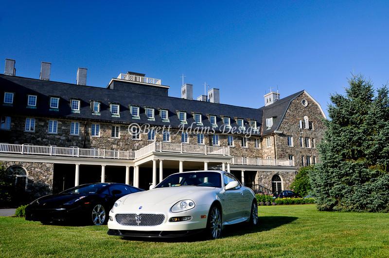 Lamborghini Gallardo and Maserati Coupe at Sky Top Inn_
