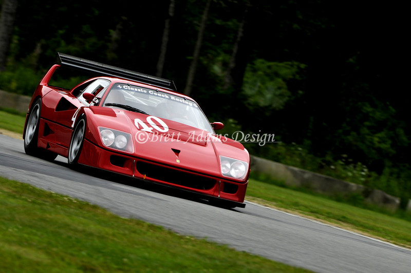 F40 LM Lime Rock Park - Heading to S Curves