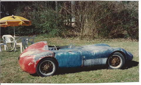 """""""It is nothing more then an H-Mod from 1955, I owned it back in 1990. Interesting thing about the car was the magnesium floor pan. It has a magnesium floor pan and Borrani wires. IT WAS AN H-MOD. When I got the car, out of Florida it came with a Crosley motor on a pallet, some of them were run with Mercury out boards, A fellow named Howard Banasek owned it before me. The photo was taken in 1990 in front of the outside lunch eating area for FAF the Ferrari dealership in Atlanta. I was renting some storage space across the street from them. It was part of a 4 car trade to Robert Pass, Passport Transportation on a 1967 Aston Martin DB6 Volante, I gave this car, an Alfa GTV, a 1934 Singer Le Mans, and 1959 AC Ace roadster, for the Aston DB-6 convertible<br /> The H-Mod, (ferret) I believe went to Glen Sipe in Tennessee with out ever going to Robert Pass.<br /> <br /> Its just an old H-Mod, there is nothing mysterious about it, H-Mods were built all over the place for very little money and were made from what ever people could find to put them together from.""""<br /> <br /> Paul C.<br /> Atlanta<br /> Comment and photo from Bring A Trailer :: <a href=""""http://bringatrailer.com/2010/06/28/long-lost-sports-racer-1957-peter-dawson-ferret/"""">http://bringatrailer.com/2010/06/28/long-lost-sports-racer-1957-peter-dawson-ferret/</a>"""