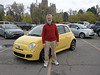 Proud new owner of a new Fiat 500 Sport, taking delivery at FIAT of Salt Lake City.