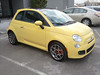 Fiat 500 poses for the camera