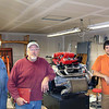 """Your's Truly with my helpers for fabricating the exhaust system, Johnny Spiva ( <a href=""""http://www.polybushings.com"""">http://www.polybushings.com</a>) and Damien Donesky (thedrue on Pennock's), who built up the engine (3.4 660). Primary pipes are 34"""". Mufflers are Magnaflow 11236."""