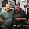 Picked up the headers and mufflers today from Finish Line Coatings (Russ Meeks and Lona Jensen),  where I had them ceramic coated in matte black. 40 years ago I (left) was Editor of Street Rod Magazine and Russ Meeks (right) was our Tech Editor.