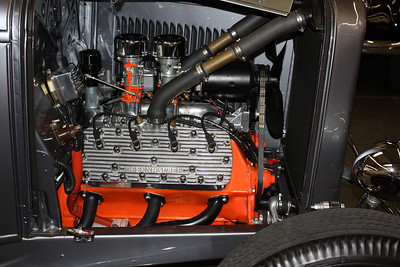 1932 Ford Roadster highboy hot rod. Engine built by H & H Flatheads La Cresenta, California.