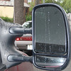 Extendable towing mirrors with built-in fish-eye blind spot mirrors.