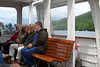 Freda, David and Jim on the Steamer back to Ambleside