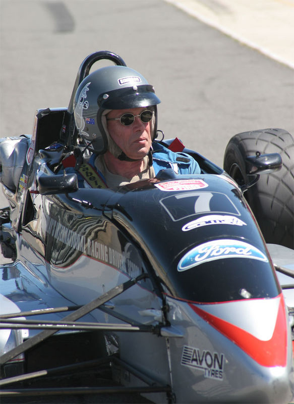 Stewart Wilson back in the cockpit of a single-seater racing car after 20 years absence. The former editor of Racing Car News magazine and writer of many motor sport books assisted with instruction tasks on the day. Stewart took some time to relax away from his hectic schedule writing and producing Aero Australia, the leading aviation journal in the Antipodes. The suit will have to go Stewart, it must have shrunk over the years!