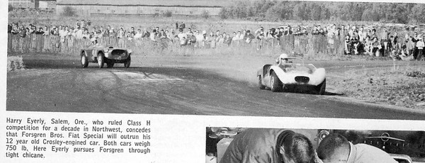 From when PIR was still called Vanport raceway. This is described as a scan from a old mag. of one of the first sporty car races held there.