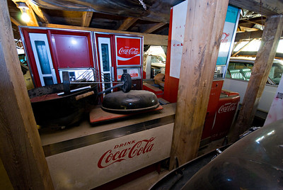 As a secondary hobby, the owner of this place also collects vintage Coke machines.