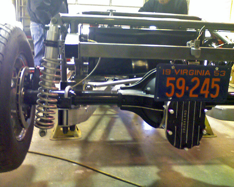 Rear suspension and differential. The final product will be titled 53 MODIFIED Studebaker.