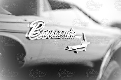 Reflections of another car on the Barracuda
