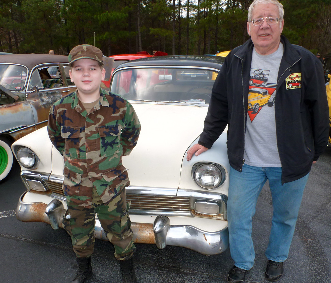 Trophy awarded for<br /> :THE ELVES WORKSHOP SPECIAL (restoration in process)<br />  <br /> 1956 Chevy 210 wagon owned by Andy Cash<br />  <br /> Andy's father bought it new.  It has been in his garage for 30 years and this was his first outing since starting to restore it.<br /> <br /> Junior Judge  Raian Nelson