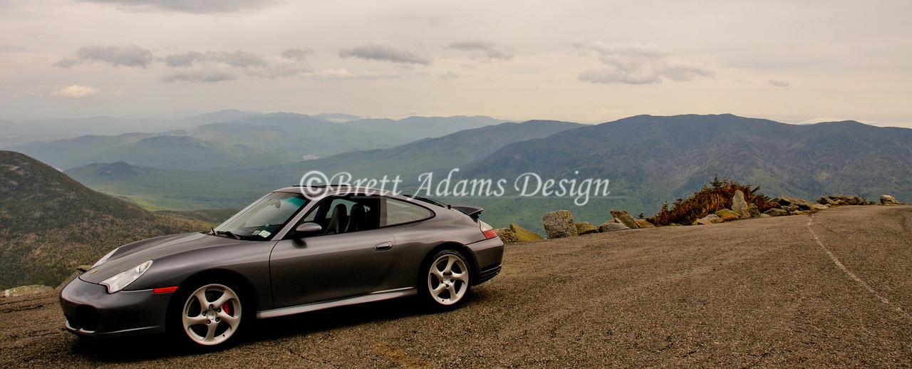 Porsche 911 C4S - Overlook at Mt Washington, NH