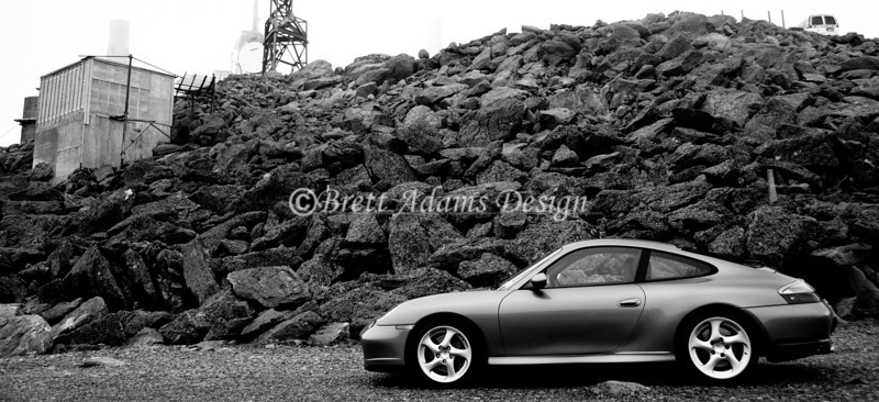 Porsche 911 C4S - Peak Observatory at Mt Washington, NH