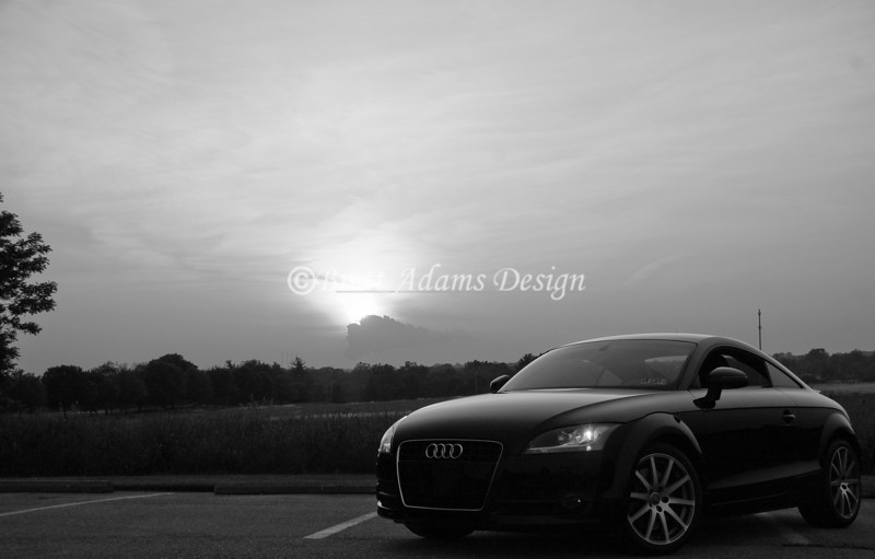 Audi TT at sunset