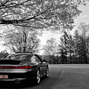 Porsche 911 C4S - Black and White/Selective Color