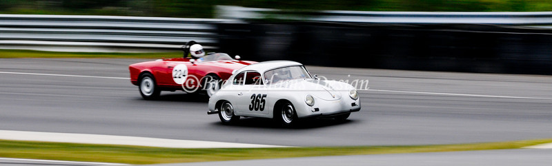Lime Rock Park - Porsche 365 exiting turn heading into uphill