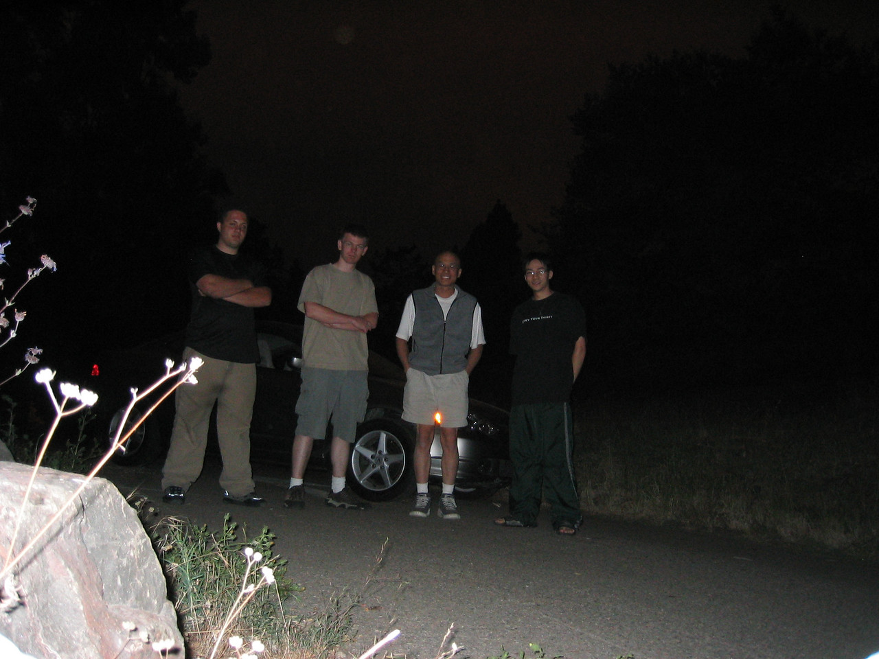 Gilbert and his rock-hopping RSX - Group photo after the rescue,  2003 07 19