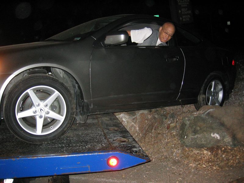 Gilbert and his rock-hopping RSX, 2003 07 19