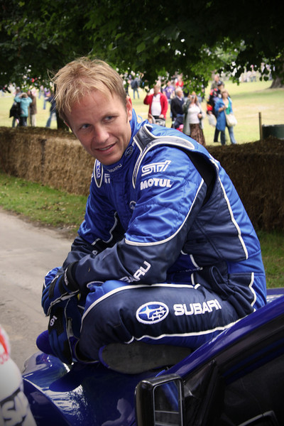 Petter Solberg - Subaru WRC Driver, waiting on the start line