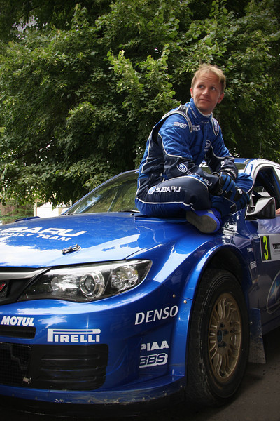 Petter Solberg - Subaru WRC Driver, waiting on the start line