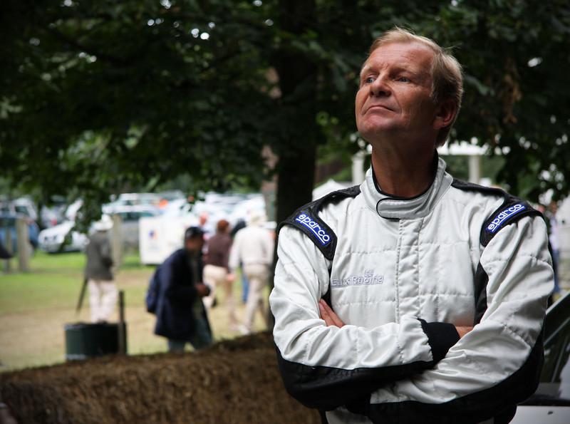 Juha Kankkunen, WRC champion '86,'87,'91,'93, waiting on the start line