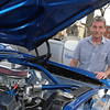 Michael Robinson of Lowell, with the 1963 Nova, the 9th Nova (all between model years 1962-67) that he's rebuilt himself. He'll be at the classic auto show being held when the 2014 Great Race stops at Lowell for the first time on Saturday, June 21, 2014. (SUN/Julia Malakie)