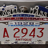 """The """"Lowell Mass"""" license plate top on Randy Christian's 1928 Ford Model A was one of only a dozen made in 1935 by Ace Auto, which evolved into Ace Muffler. A friend left it to Christian in his will. (SUN/Julia Malakie)"""