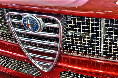 Escutcheon badge on Alfa Romeo Giulietta