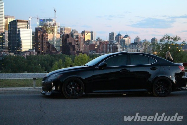 Car: 2008 Lexus IS350 Wheel: 19×8.5/10 Linea Corse LC818   Satin Black  (5×114.3 +30+38) Tire Size: 235/35/19 And 265/30/19