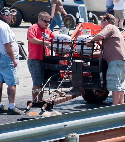 The MoKan Dragway rubber scraper. Southwestern Missouri engineering at its finest.