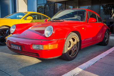 Porsche 964 - Cars & Coffee, Brisbane. Saturday 5 August 2017. Photos by Des Thureson - http://disci.smugmug.com