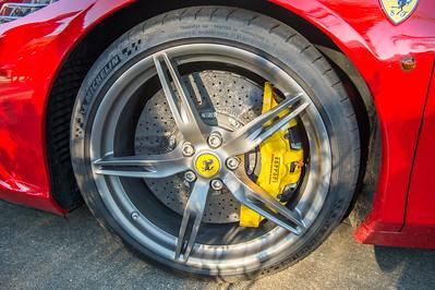 Ferrari 458 Wheel - Cars & Coffee, Brisbane. Saturday 5 August 2017. Photos by Des Thureson - http://disci.smugmug.com