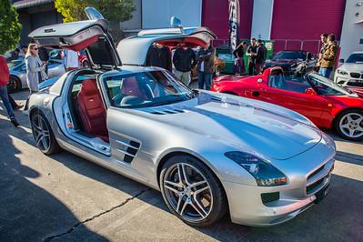 Mercedes Benz SLS AMG - Cars & Coffee, Brisbane. Saturday 5 August 2017. Photos by Des Thureson - http://disci.smugmug.com