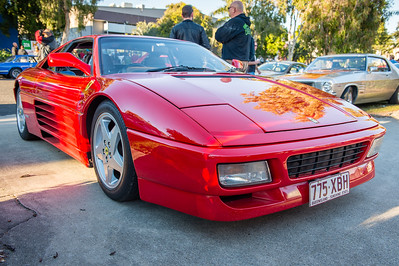 Ferrari 348 tb - Cars & Coffee, Brisbane. Saturday 5 August 2017. Photos by Des Thureson - http://disci.smugmug.com