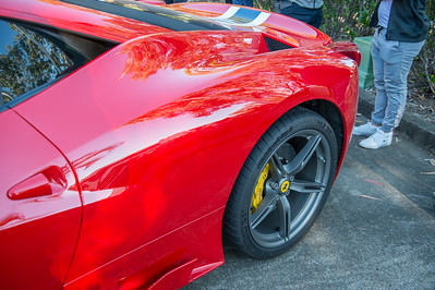 Ferrari 458 - Cars & Coffee, Brisbane. Saturday 5 August 2017. Photos by Des Thureson - http://disci.smugmug.com